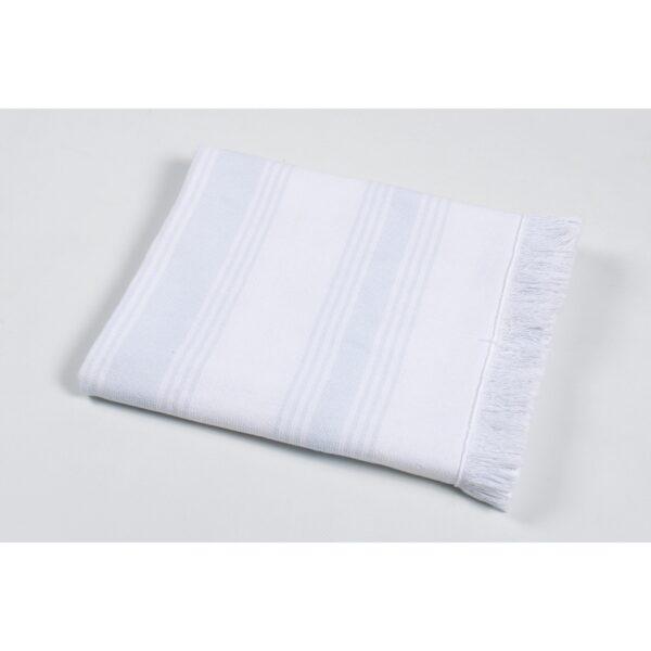 купить Полотенце TAC Pestemal North - Aqua Белый фото