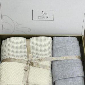 купить Постельное белье с пике Favorite лен Armani a. gri Серый фото