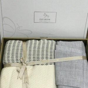 купить Постельное белье с пике Favorite лен Armani k. gri Серый фото