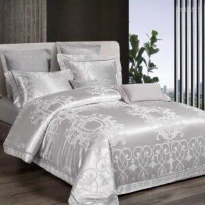 купить Постельное белье Bella Villa Сатин-Жаккард J-0053 Серый фото