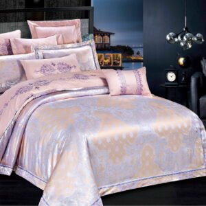 купить Постельное белье Bella Villa Сатин-Жаккард J-0056 Розовый фото