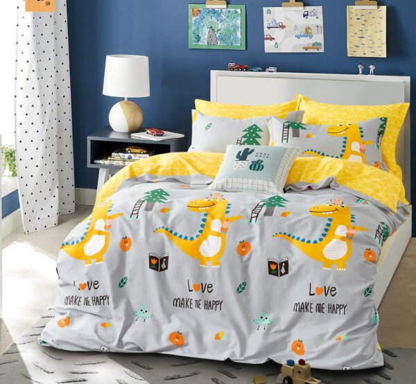 купить Постельное белье Bella Villa Сатин B-0239 Серый Желтый фото