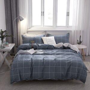 купить Постельное белье Bella Villa Сатин B-0247 Серый|Синий фото