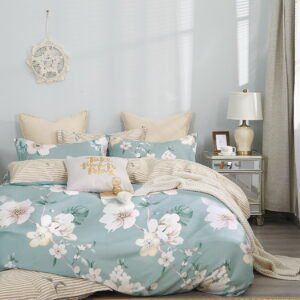 купить Постельное белье Bella Villa Сатин B-0249 Голубой|Бежевый фото