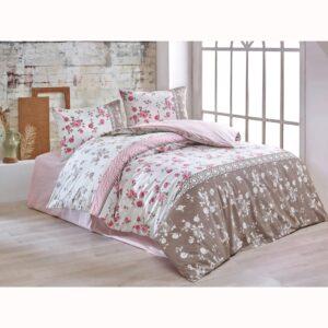 купить Постельное белье Brielle ранфорс Gulperi kutulu-pembe Розовый фото