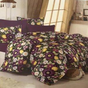 купить Постельное белье Zugo Home сатин Botanical V2 Фиолетовый фото