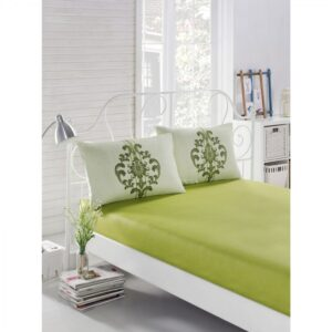 купить Простынь на резинке с наволочками Eponj Home - Clasy yesil Зеленый фото