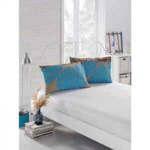 купить Простынь на резинке с наволочками Eponj Home - Minerva turkuaz Белый фото