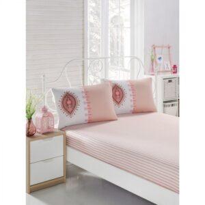 купить Простынь на резинке с наволочками Eponj Home - Zara somon Розовый фото
