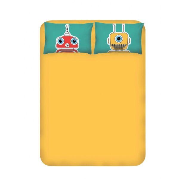 купить Простынь с наволочками Enlora Home - Robotte Yesil Желтый фото