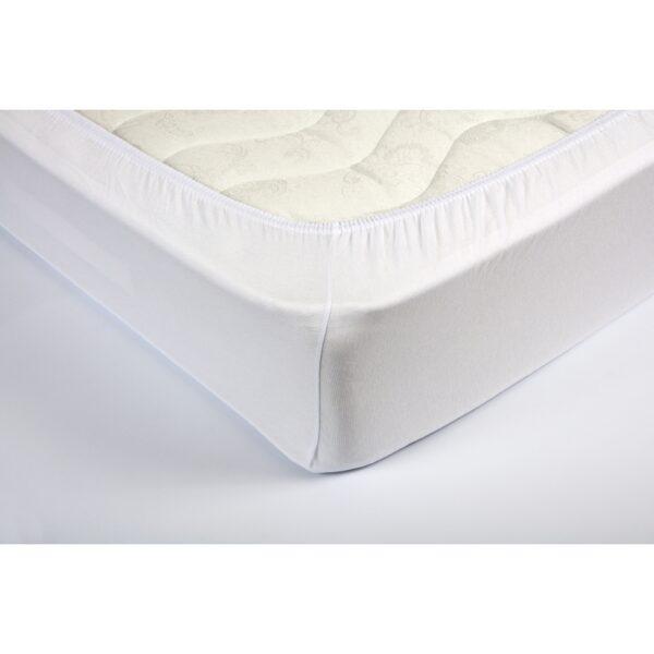 купить Простынь трикотажная на резинке Lotus - Белая Белый фото