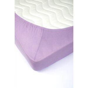 купить Простынь трикотажная на резинке Lotus - Лиловая Лиловый фото