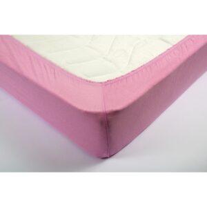 купить Простынь трикотажная на резинке Lotus - Розовая Розовый фото