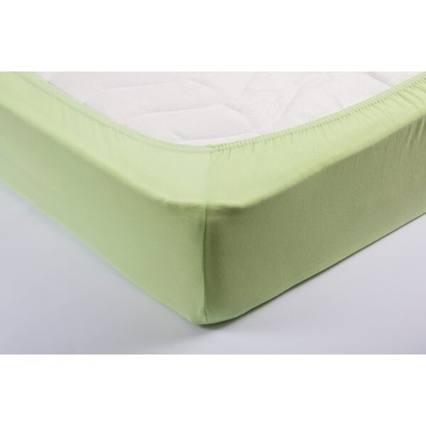 купить Простынь трикотажная на резинке Lotus - Салатовая Зеленый фото