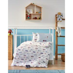купить Детский набор в кроватку с бортиками Karaca Home - My Car 2018-1 (10 предметов) Голубой фото