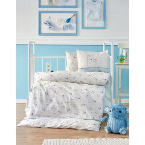 купить Детский набор в кроватку с бортиками Karaca Home - Woof 2018-1 (10 предметов) Голубой фото
