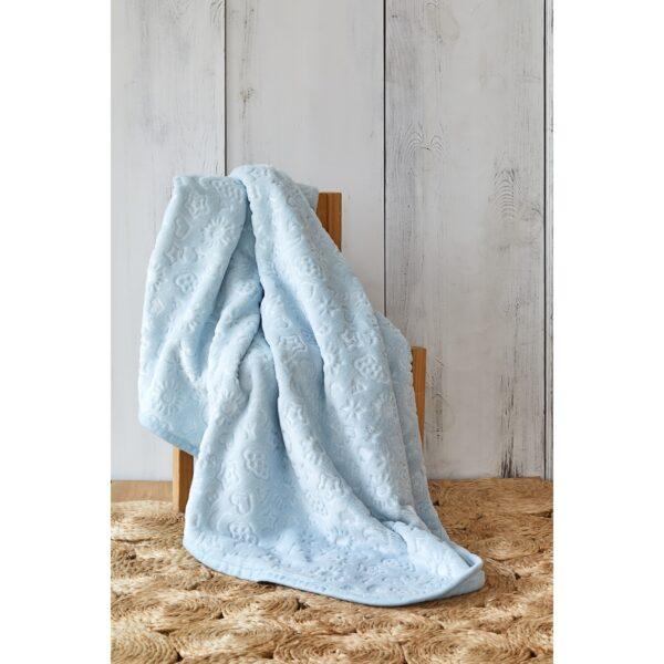 купить Детский плед в кроватку Karaca Home - Candy Mavi 2020-2 100*120 Голубой фото
