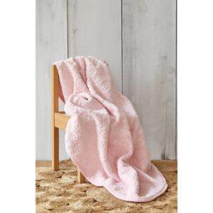 купить Детский плед в кроватку Karaca Home - Candy Pudra 2020-2 100*120 Розовый фото