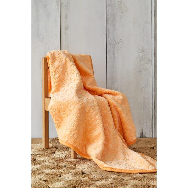 купить Детский плед в кроватку Karaca Home - Candy Yavruagzı 2020-2 100*120 Оранжевый фото