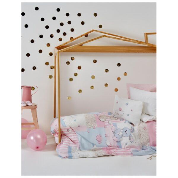 купить Детский плед в кроватку Karaca Home - Honey Bunny pembe 2017-1 100*120 Розовый фото