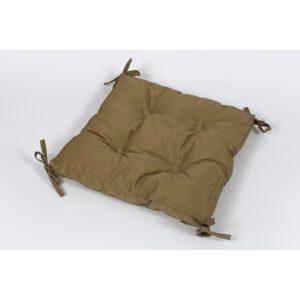 купить Подушка на стул Lotus 40*40*5 - Optima с завязками коричневый Коричневый фото