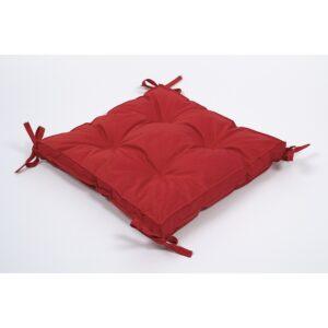 купить Подушка на стул Lotus 40*40*5 - Optima с завязками красный Красный фото