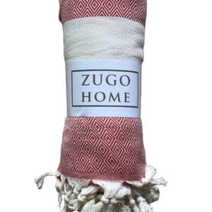 купить Покрывало пештемаль Zugo Home Cizgili 200*240 см Красный_x000D_ Красный_x000D_ фото