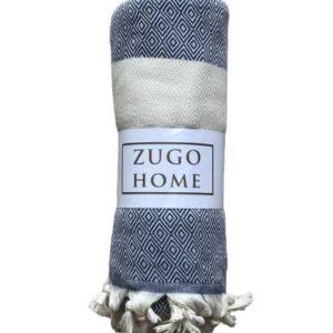 купить Покрывало пештемаль Zugo Home Cizgili 200*240 см Синий Синий фото