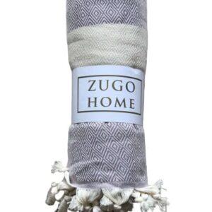 купить Покрывало пештемаль Zugo Home Cizgili 200*240 см Фиолетовый Фиолетовый фото