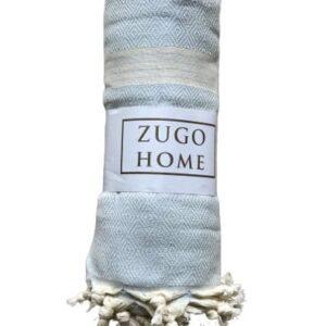 купить Покрывало пештемаль Zugo Home Elmas 200*240 см Голубой Голубой фото
