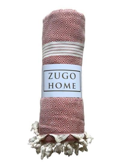 купить Покрывало пештемаль Zugo Home Elmas 200*240 см Красный_x000D_ Красный_x000D_ фото