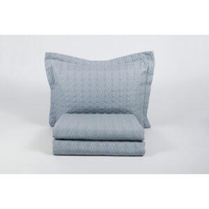 купить Покрывало с наволочками Karaca Home - Edenia mavi 2019-1 голубой 240*230 Голубой Серый фото
