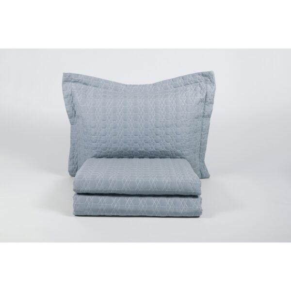 купить Покрывало с наволочками Karaca Home - Edenia mavi 2019-1 голубой 240*230 Голубой|Серый фото
