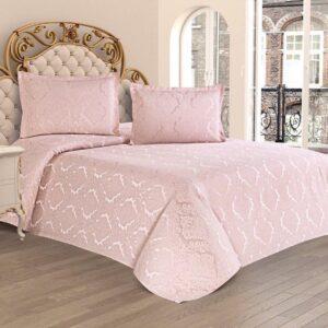 купить Покрывало с наволочками Kubra Class полиэстер Serra 240*260 Розовый Розовый фото