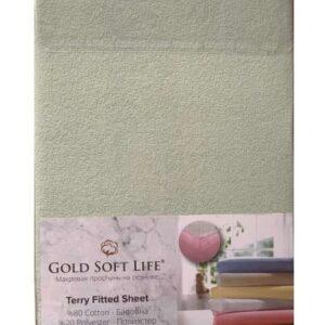 купить Простынь махровая на резинке Gold Soft Life Terry Fitted Sheet Ментоловый_x000D_ Ментоловый_x000D_ фото