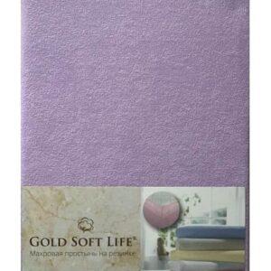 купить Простынь махровая на резинке Gold Soft Life Terry Fitted Sheet Сиреневый Сиреневый фото