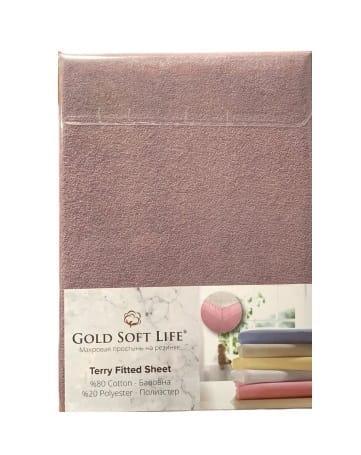 купить Простынь махровая на резинке Gold Soft Life Terry Fitted Sheet Фиолетовый Фиолетовый фото