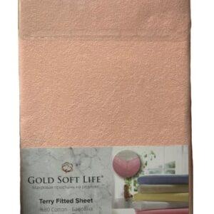 купить Простынь махровая на резинке Gold Soft Life Terry Fitted Sheet pink Розовый фото