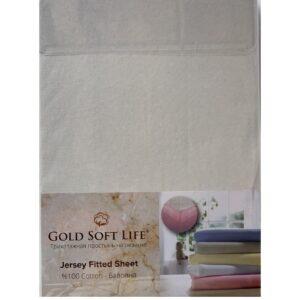 купить Простынь трикотажная на резинке Gold Soft Life Terry Fitted Sheet Кремовый Кремовый фото