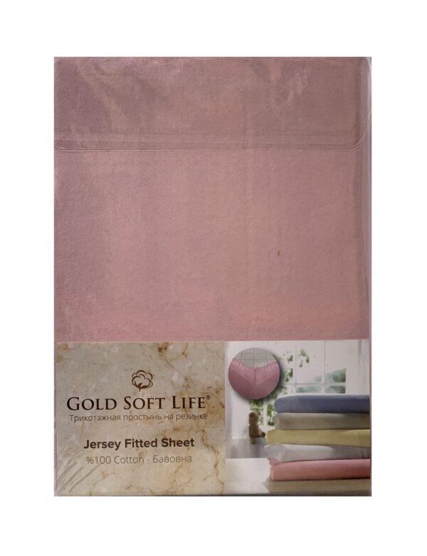 купить Простынь трикотажная на резинке Gold Soft Life Terry Fitted Sheet Роз Розовый фото
