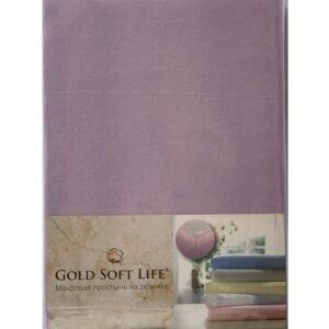 купить Простынь трикотажная на резинке Gold Soft Life Terry Fitted Sheet Сиреневый Сиреневый фото