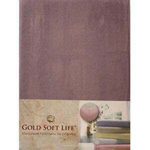 купить Простынь трикотажная на резинке Gold Soft Life Terry Fitted Sheet Фиолетовый Фиолетовый фото