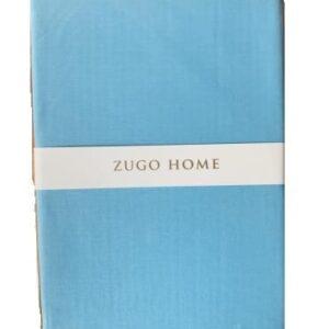 купить Простынь Zugo Home ранфорс Basic Голубой Голубой фото