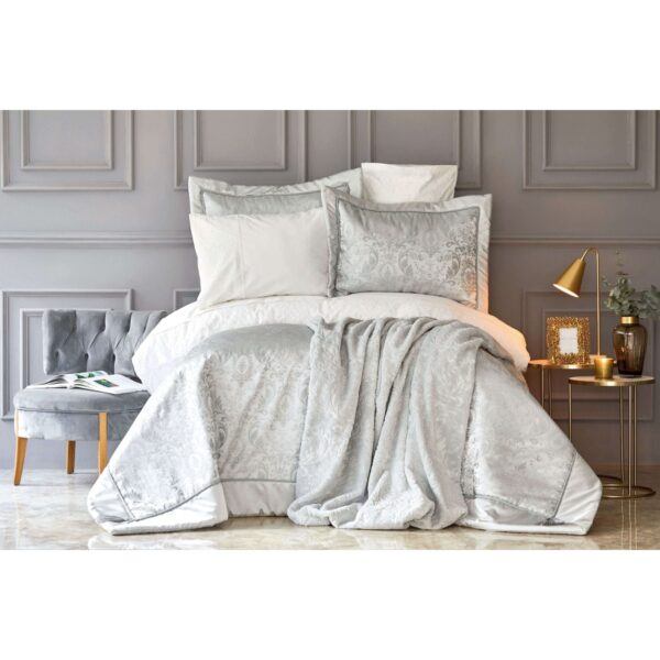 купить Набор постельное белье с одеялом Karaca Home - Silvio s.yesili Серый фото