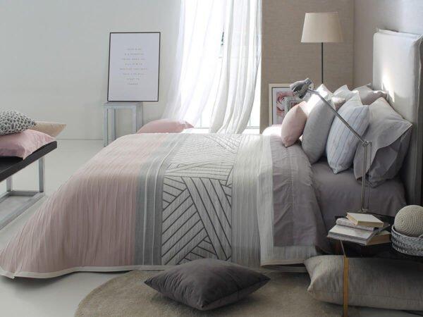 купить Покрывало двустороннее REIG MARTI COACH C02 Серый|Розовый фото
