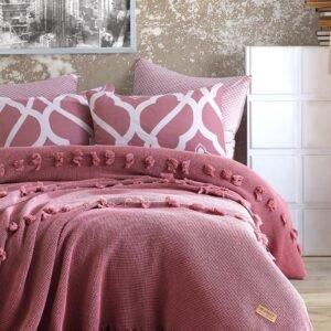 купить Покрывало Dantela vita Asya Gul Kurusu Розовый фото