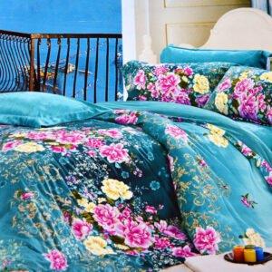 купить Постельное белье Велюр 00000725 Голубой фото