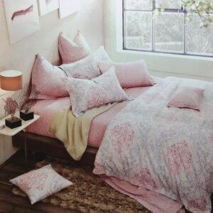 купить Постельное белье сатин - Лен 60S 00001629 Розовый фото