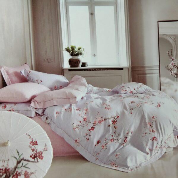 купить Постельное белье сатин - Лен 60S 00001649 Розовый фото