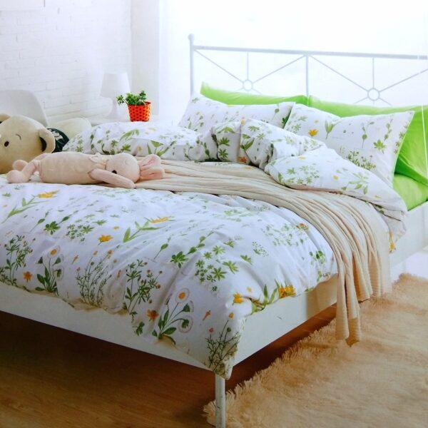 купить Постельное белье сатин люкс 00001624 Зеленый фото